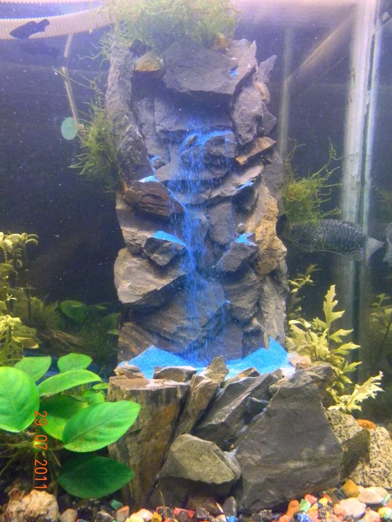 Водопады в аквариуме как сделать своими руками