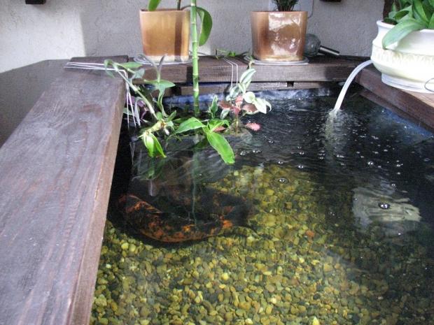 Мини-пруд на лоджии